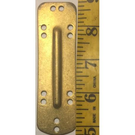 Brass 22 Gauge Lamellar Plate Fluted